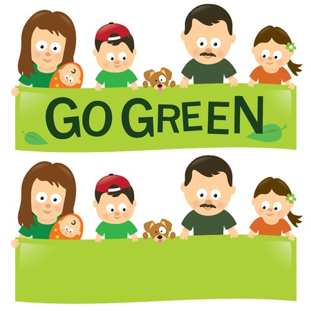Go green family Vector