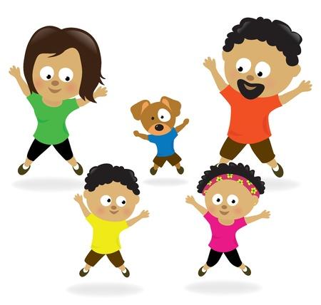 Familie doen springen