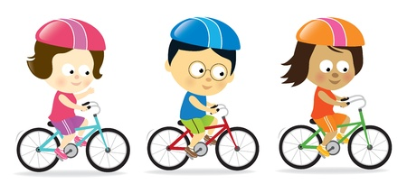 Adults biking Vector