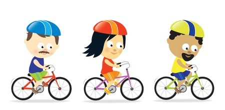 Adults riding bicycles Stock Vector - 20274254