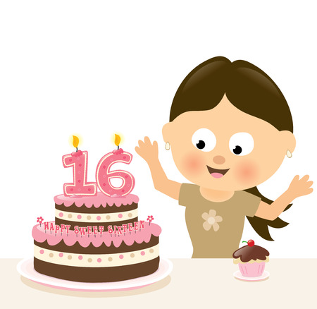 Surprise Sixteen Birthday Vector