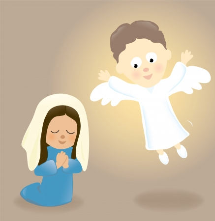 Mary and the Angel Vector