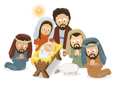 Nativity Scene Stock Vector - 24058177