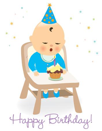 Birthday baby boy Ilustrace