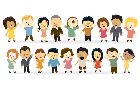 gruppe m�nner: Gruppe von Menschen zu singen