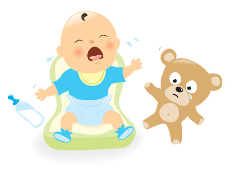 叫びの赤ん坊  イラスト・ベクター素材
