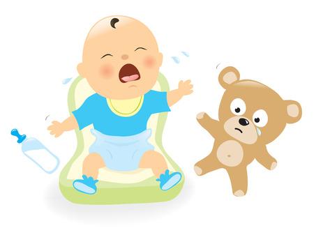 Bebé del grito Ilustración de vector