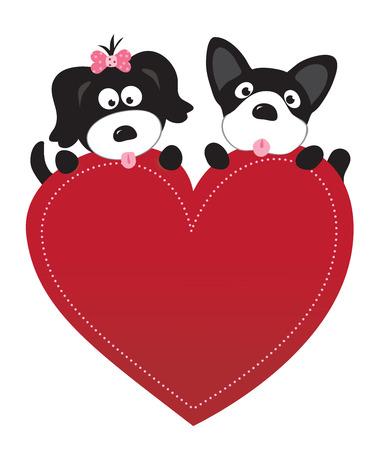 Valentine puppies Ilustrace