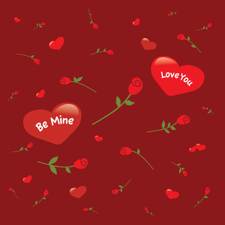 hearts and roses Ilustrace