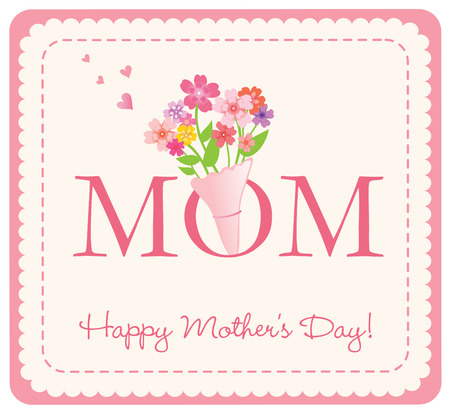Happy Mother s Day card 일러스트