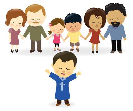 familia orando: Iglesia orante