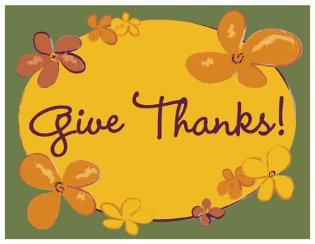 Give Thanks Poster Reklamní fotografie - 44625472