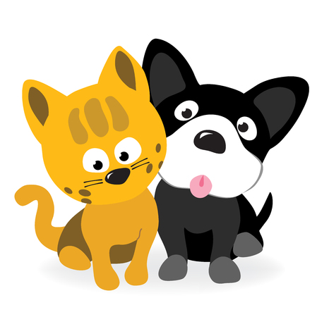 Kitty and pup
