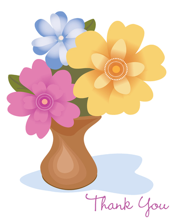 Thank you flowers Ilustrace
