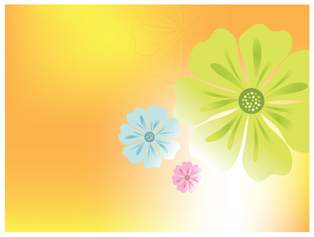 Flower vector background Ilustrace