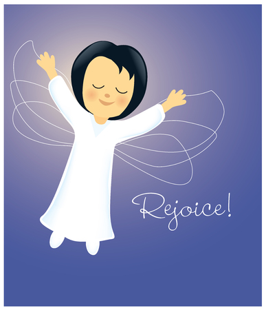 Angel Rejoicing Illustration