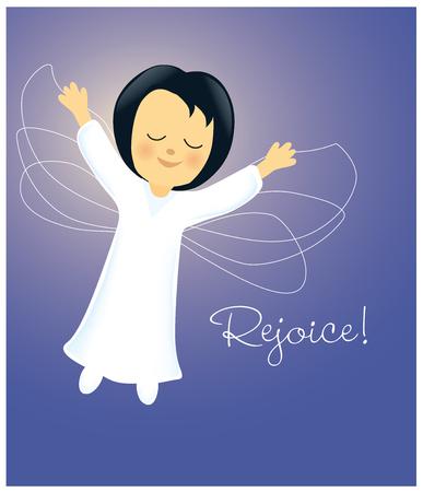 rejoicing: Angel Rejoicing Illustration