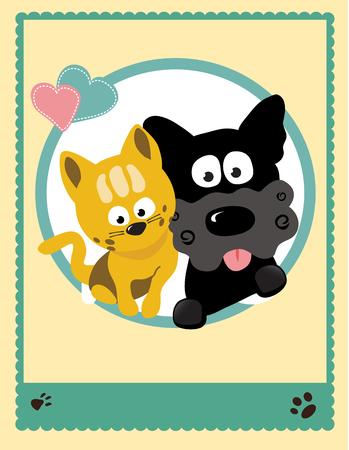 buddy: Cat and dog