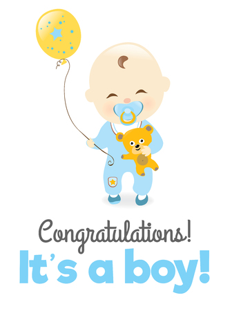 It is a boy!  イラスト・ベクター素材