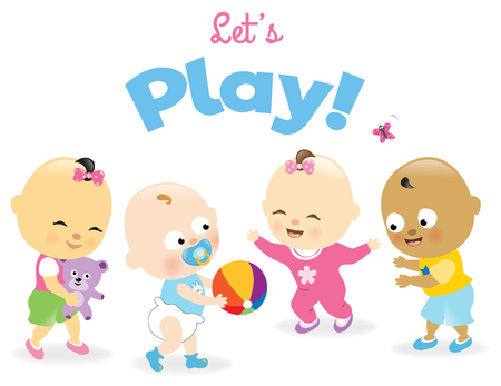 baby playing toy: Day care kids