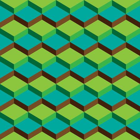 forme: Résumé Green Cubes géométriques