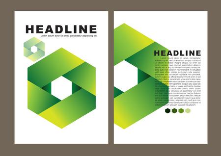brochure cover design: Brochure cover design. Illustration