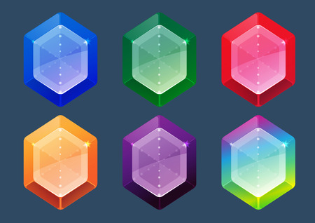jewels: Gems And Jewels Icons Set for game user interface. Illustration