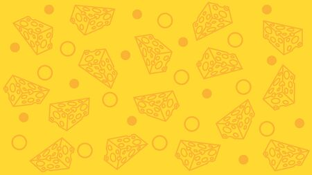 Cheese pattern. seamless background. Vector illustration.