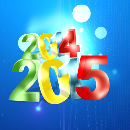 the turn of the year: 2015 2014 light blue backgorund