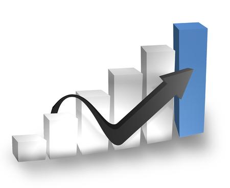 zahlen: chart Stock Photo