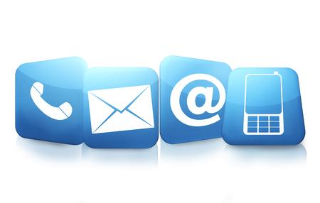 servicio al cliente: cont�ctenos iconos Foto de archivo