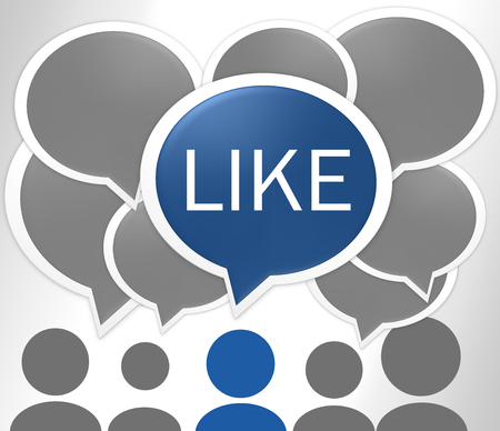reasoning: social media Stock Photo