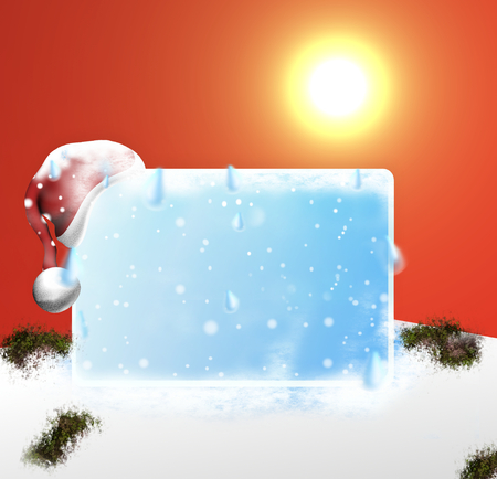 ice melt blank board 3d design  photo