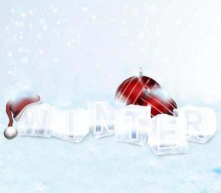 christmastime: winter christmastime Stock Photo