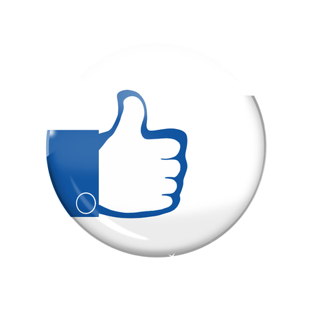 i like: thumbs up icon button