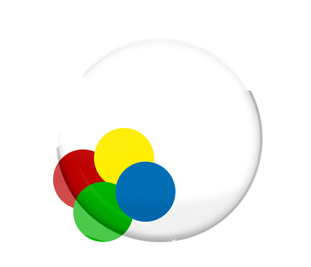 glitter gloss: round blank design Stock Photo