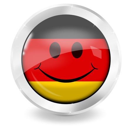 smiley germany icon buttton photo