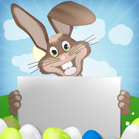 brown hare: easter bunny