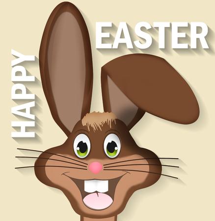 easter bunny happy Stock Photo - 27451227
