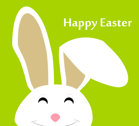 brown hare: Happy Easter Bunny