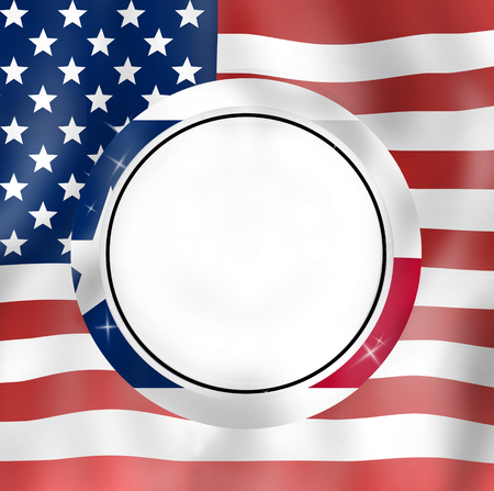 texan: Texan round icon and USA Design