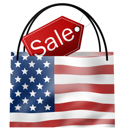 errands: SALE Bag America Stock Photo