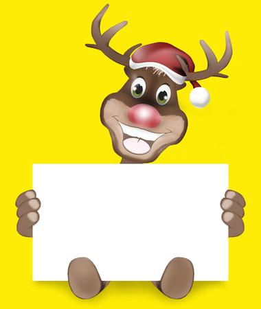 rudolf: Paws Rudolf Happy Smile Christmas Design Stock Photo