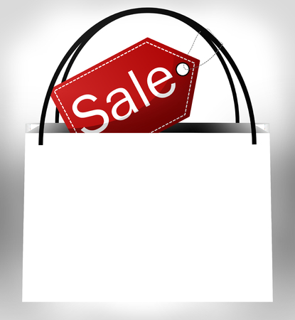 errands: white sale bag