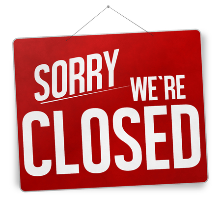 sorry we are closed photo