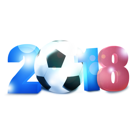 soccer wm: 2018 Dise�o F�tbol Foto de archivo