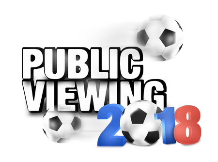 soccer wm: 2018 Soccer Design Stock Photo