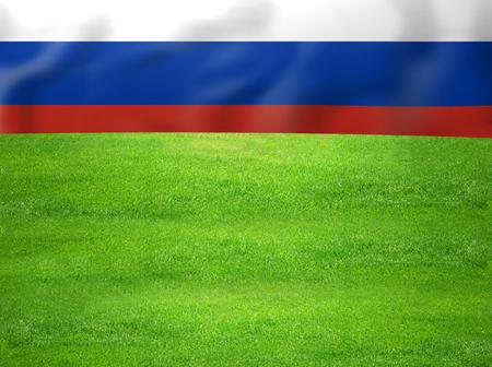 soccer wm: RUSIA deportes bandera Foto de archivo