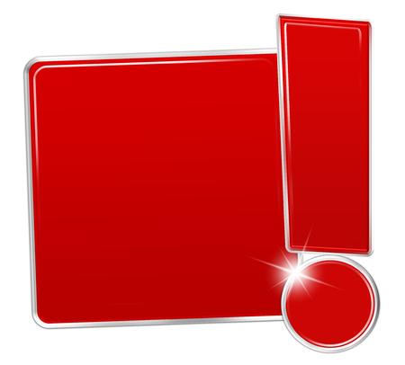 exclamation mark: cartel rojo con signo de exclamaci�n