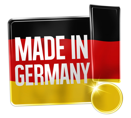 made in: Made in Duitsland Design Stockfoto